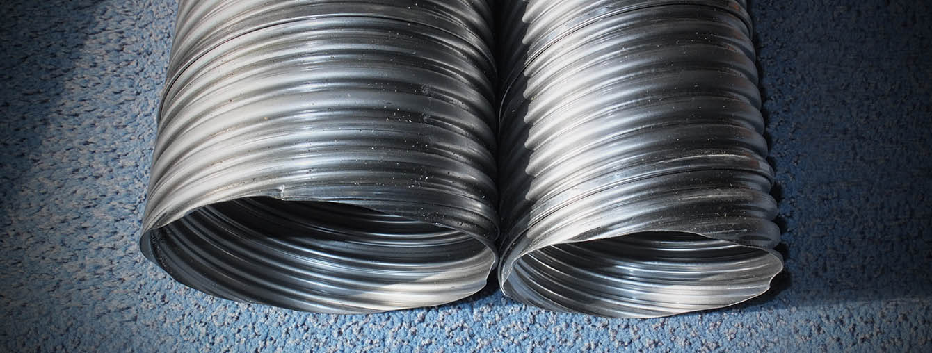 Galvanized steel pipe duct - post tensioning