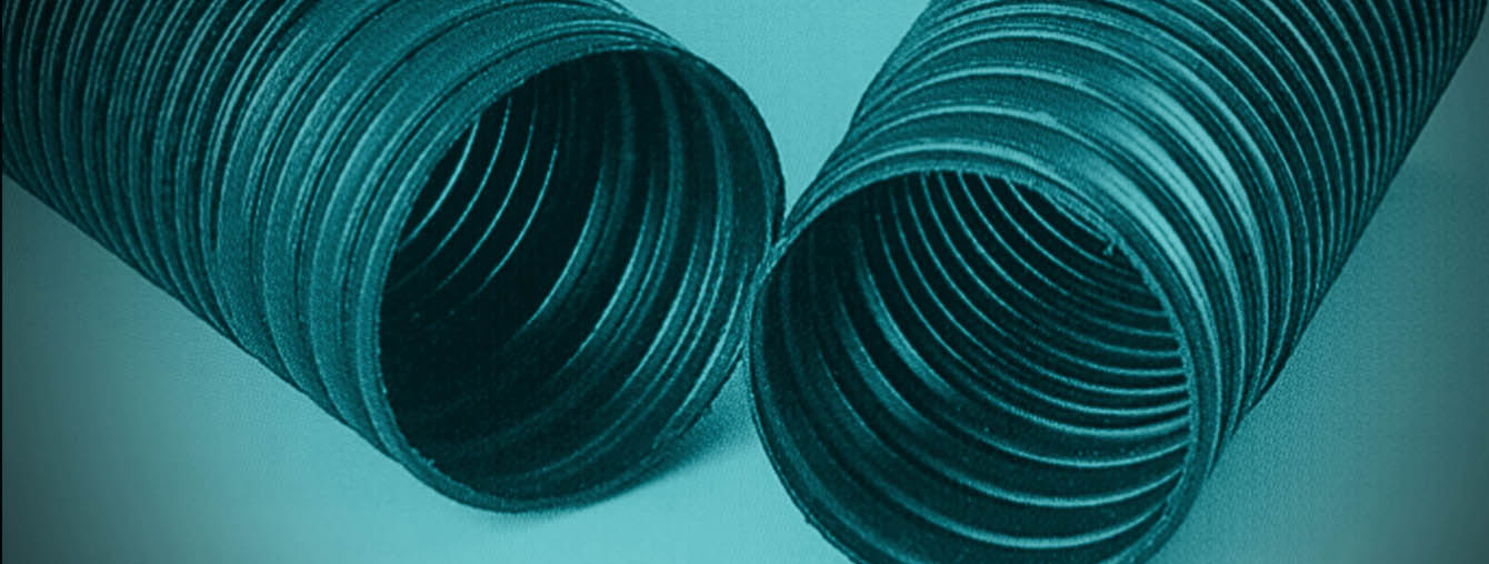 Circular corrugated HDPE duct pipe with integrated screw coupler