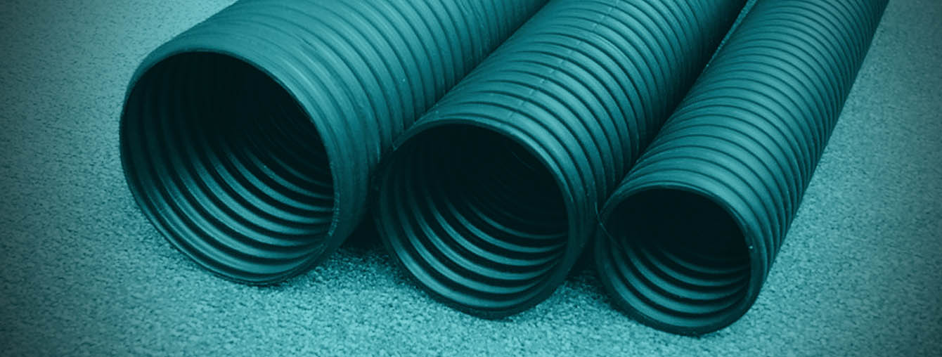 Circular corrugated HDPE duct pipe