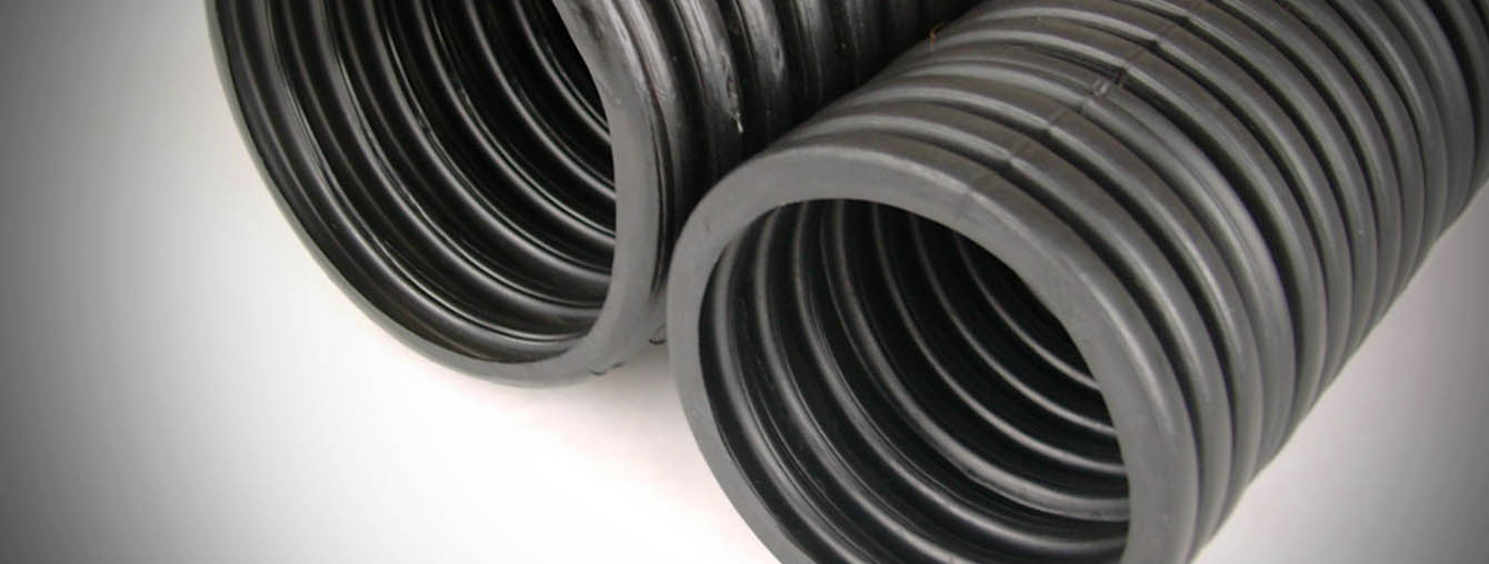 Thick wall circular corrugated HDPE pipe duct