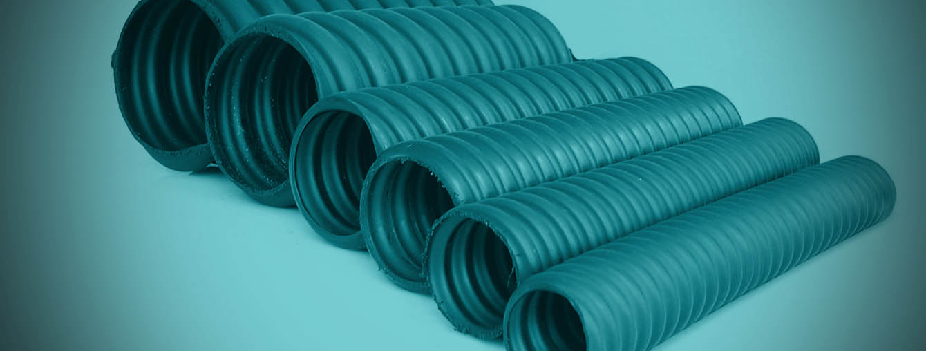 sinusoidal corrugated HDPE pipe duct