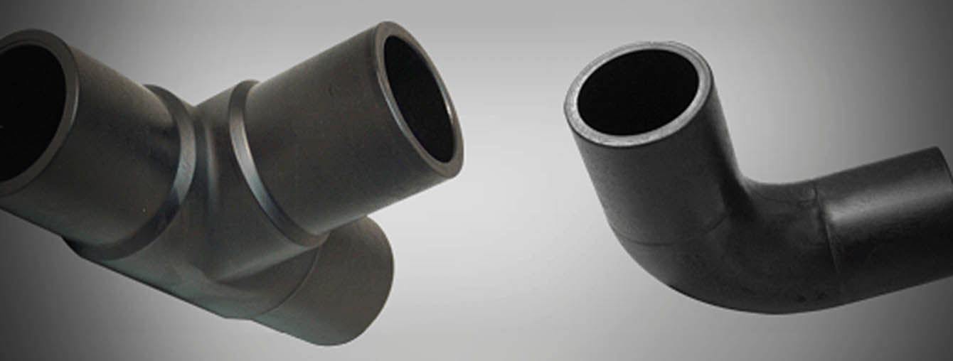 Customized buttwelding fittings HDPE pipe duct